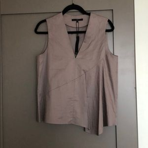 Tibi taupe blouse, Size 4, NEW